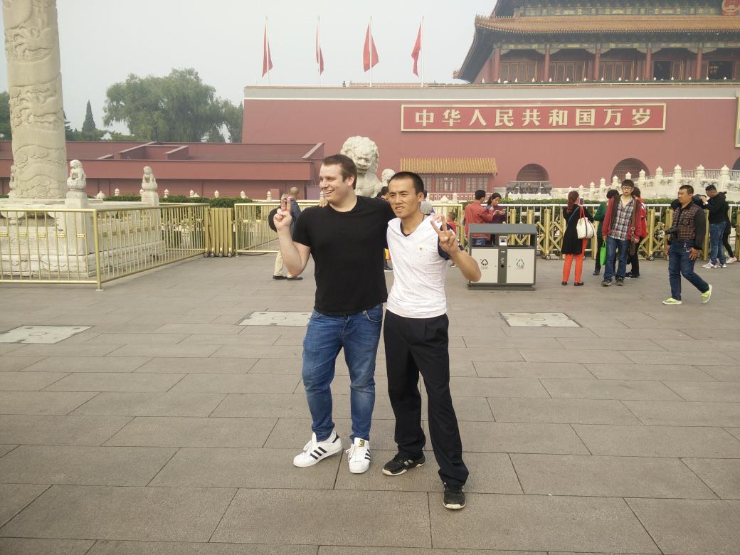 Neil in Tiananmen Square